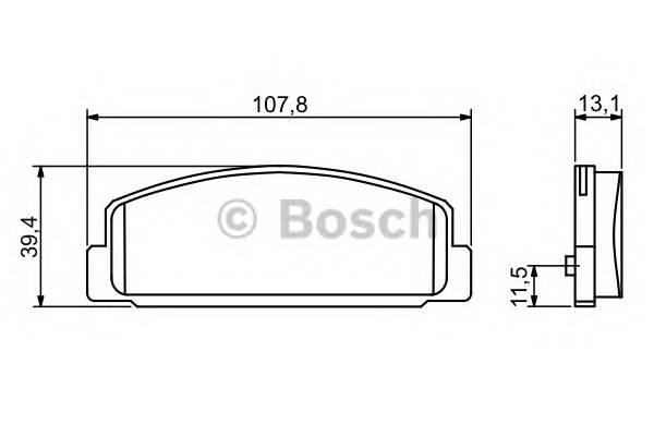 Тормозные колодки Тормозные колодки Bosch PAGID арт. 0986424817