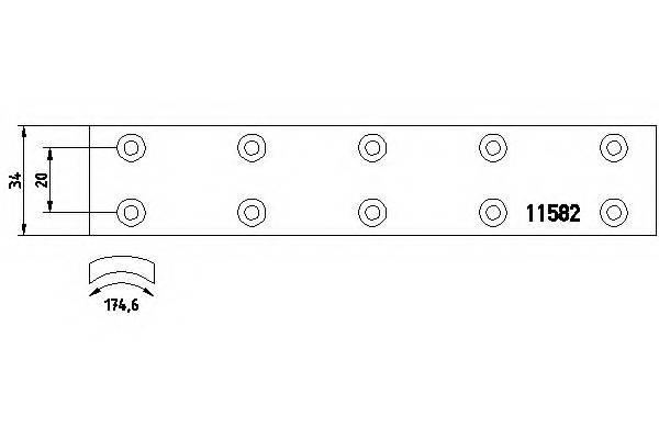 Тормозные колодки Тормозные колодки барабанные TEXTAR арт. 1101901
