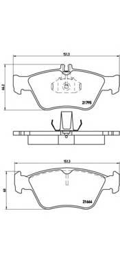 Тормозные колодки Тормозные колодки Brembo PAGID арт. P50023