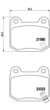 Тормозные колодки Тормозные колодки Brembo PAGID арт. P56048
