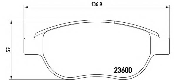 Тормозная система Гальмiвнi колодки, к-кт. ABE арт. P61068