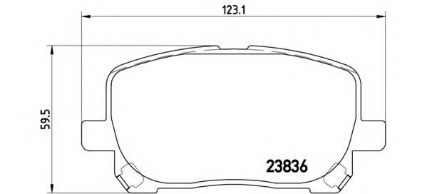 Тормозные колодки Тормозные колодки дисковые BREMBO арт. P83061