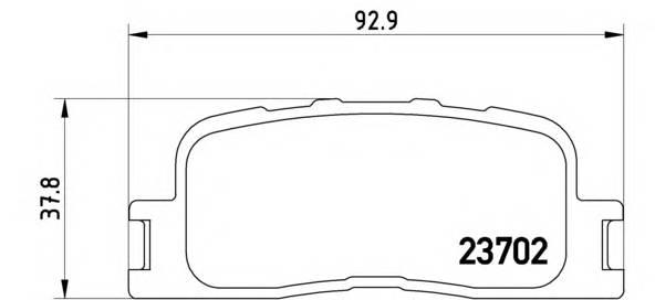 Тормозные колодки Тормозные колодки дисковые BREMBO арт. P83088