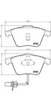 Тормозные колодки Тормозные колодки дисковые ABE арт. P85056