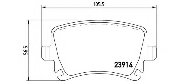 Тормозные колодки Тормозные колодки Brembo PAGID арт. P85073