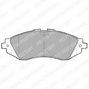 Гальмівні колодки, дискові PAGID арт. LP1304