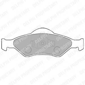 Гальмівні колодки, дискові PAGID арт. LP1470