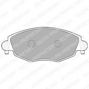Гальмівні колодки, дискові PAGID арт. LP1533
