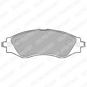 Гальмівні колодки, дискові PAGID арт. LP1816
