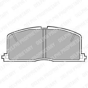 Гальмівні колодки, дискові PAGID арт. LP460