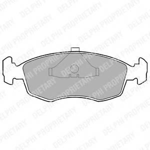 Гальмівні колодки, дискові PAGID арт. LP587