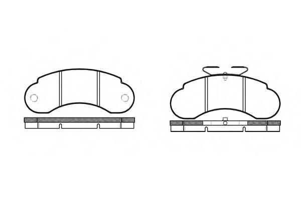 Тормозная система Гальмiвнi колодки, к-кт. PAGID арт. 214210