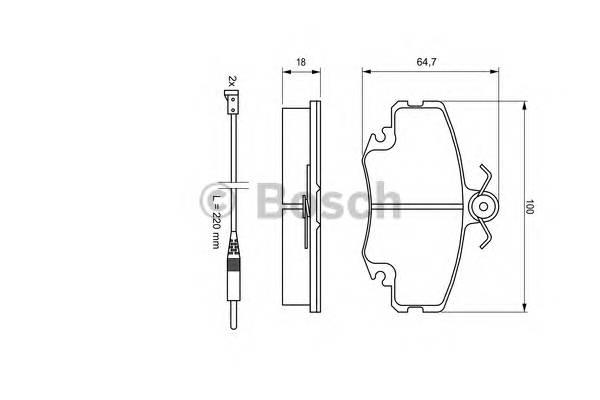 Тормозные колодки Тормозные колодки Bosch ABE арт. 0986467720