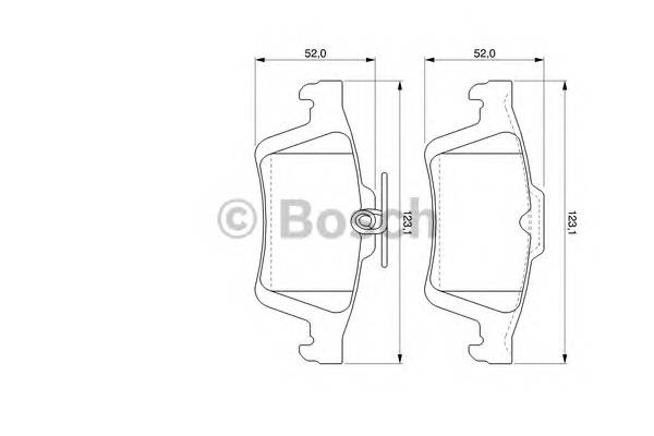 Тормозные колодки Тормозные колодки Bosch PAGID арт. 0986494127