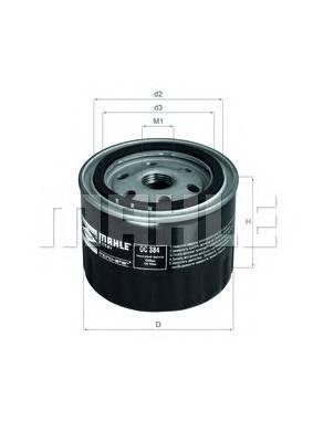 Масляные фильтры Фільтр масляний KNECHT арт. OC384