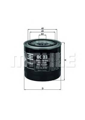 Масляные фильтры Фільтр масляний KNECHT арт. OC23