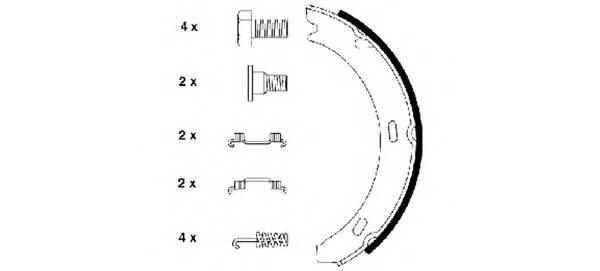 Тормозные колодки Тормозные колодки барабанные PAGID арт. 91044500
