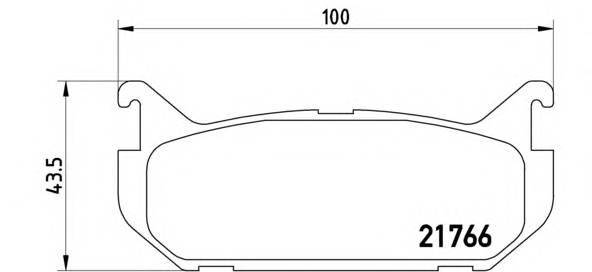Тормозная система Гальмiвнi колодки, к-кт. PAGID арт. P24036