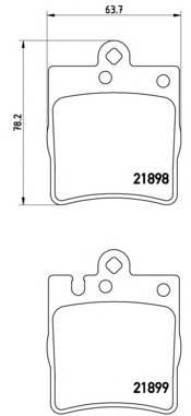 Тормозные колодки Тормозные колодки Brembo PAGID арт. P50033