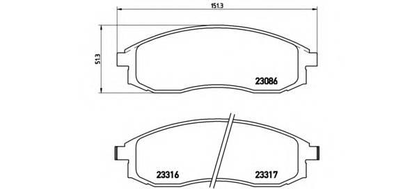 Тормозная система Гальмiвнi колодки, к-кт. PAGID арт. P54032