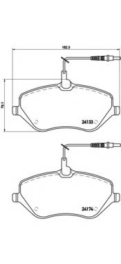 Тормозная система Гальмiвнi колодки, к-кт. ABE арт. P61078