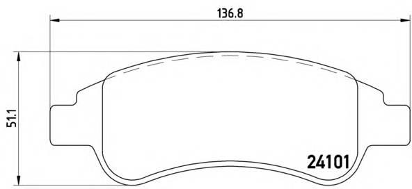 Тормозные колодки Тормозные колодки Brembo PAGID арт. P61082