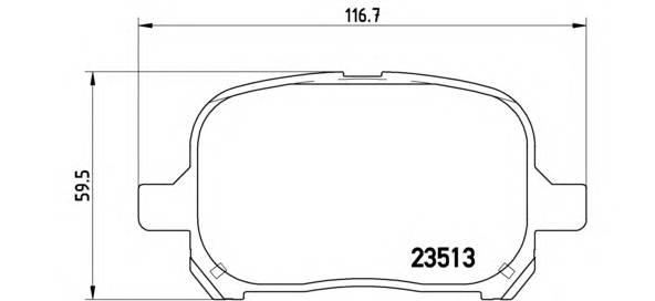 Тормозная система Гальмiвнi колодки, к-кт. PAGID арт. P83040