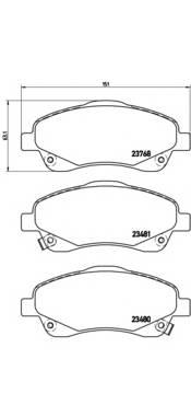 Тормозная система Гальмiвнi колодки, к-кт. PAGID арт. P83046
