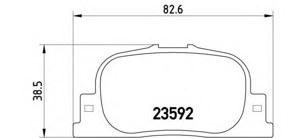 Тормозные колодки Тормозные колодки Brembo PAGID арт. P83063