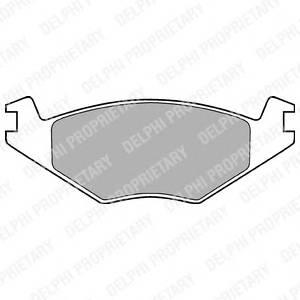 Гальмівні колодки, дискові PAGID арт. LP505