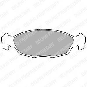 Гальмівні колодки, дискові PAGID арт. LP702