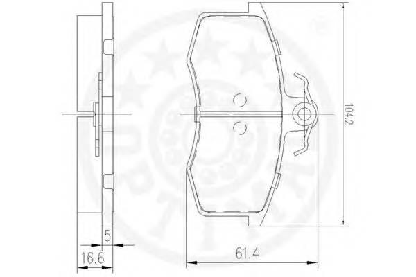 Тормозные колодки Тормозные колодки LADA 2108-099, TAVRIA OPTIMAL арт. 9448