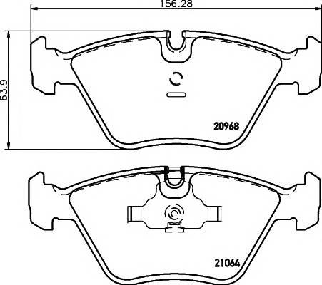 Тормозные колодки 21064/20,3мм Тормозные колодки PAGID PAGID арт. T1026