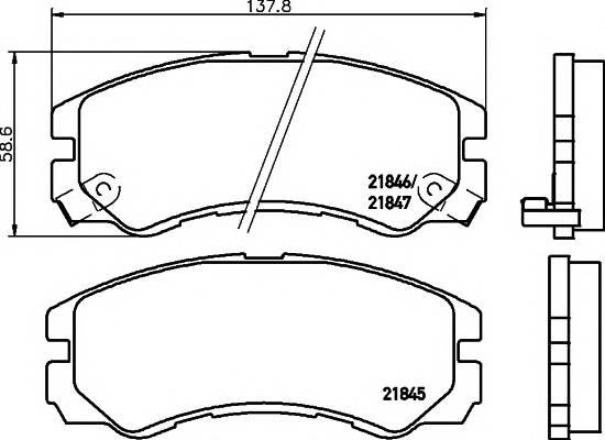 Тормозные колодки 21847/16,5мм Тормозные колодки PAGID PAGID арт. T3033