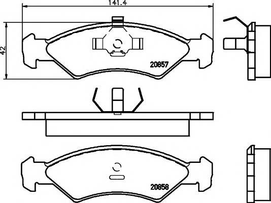 Тормозные колодки Тормозные колодки дисковые ABE арт. 2085702