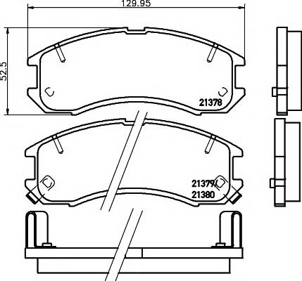 Тормозные колодки Тормозные колодки дисковые PAGID арт. 2137801