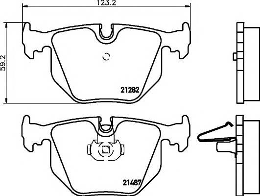 Тормозные колодки Тормозные колодки дисковые TEXTAR PAGID арт. 2148703