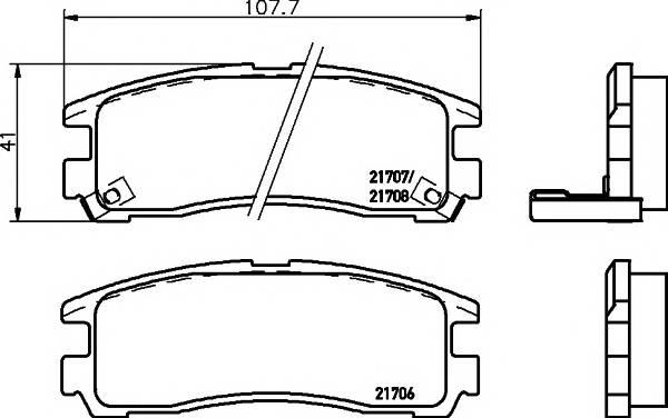 Тормозные колодки Тормозные колодки дисковые Textar PAGID арт. 2170602