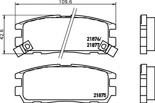 Тормозные колодки Тормозные колодки дисковые PAGID арт. 2187501