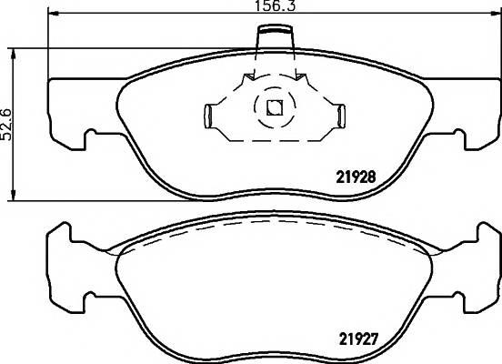Тормозные колодки Тормозные колодки дисковые ABE арт. 2192703