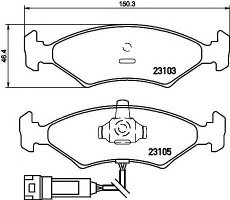 Тормозные колодки Тормозные колодки дисковые PAGID арт. 2310501