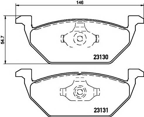 Тормозная система Гальмiвнi колодки, к-кт. PAGID арт. 2313001