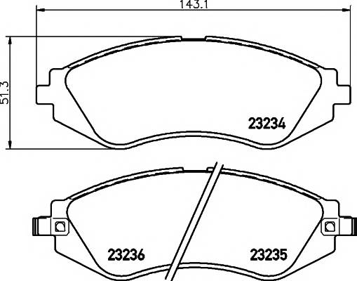 Тормозные колодки Тормозные колодки передние LANOS R14 TEXTAR PAGID арт. 2323401