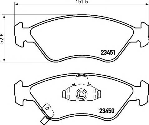 Тормозные колодки Тормозные колодки дисковые PAGID арт. 2345001