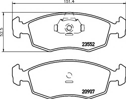 Тормозные колодки Тормозные колодки дисковые ABE арт. 2355202