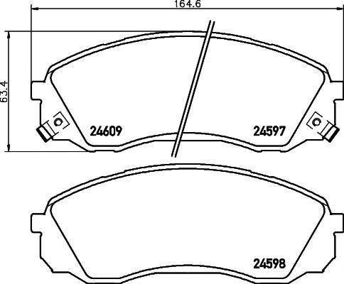 Тормозные колодки Тормозные колодки дисковые ABE арт. 2459701