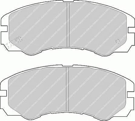 Тормозные колодки Тормозные колодки Ferodo PAGID арт. FDB1015