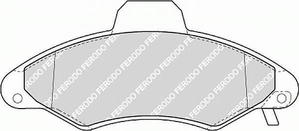 Тормозные колодки Тормозные колодки Ferodo ABE арт. FDB1276