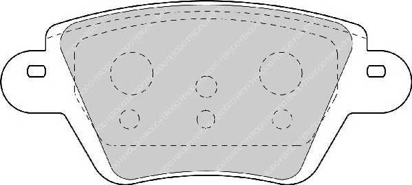 Тормозные колодки Тормозные колодки Ferodo PAGID арт. FDB1380