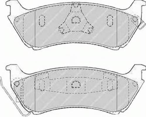 Тормозные колодки Тормозные колодки Ferodo PAGID арт. FDB1401